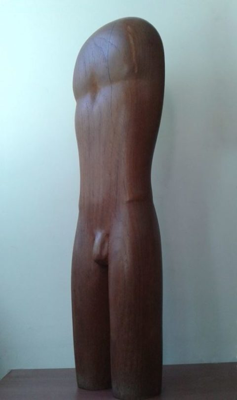 work of wood by artist Tanya Preminger,sculpture made in 1973