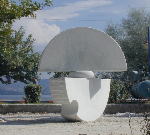 """Day and Night"",Marble.2004  250 x 230 x 150 cm.  Egridir, Turkey."