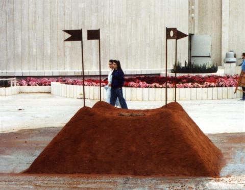 """Altar"" 1990  Soil, iron, hair 340 x 340 x 380 cm Natanya, Israel-by Tanya Preminger"