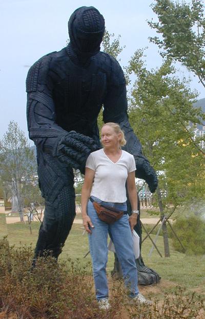 Tanya Preminger with Big man-Korea