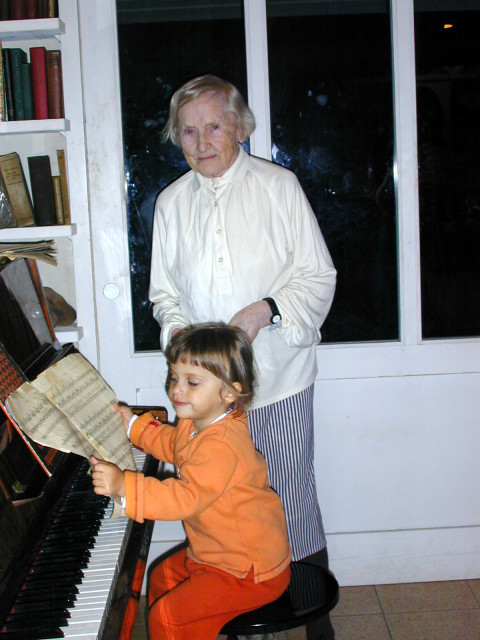 artist tanya preminger privat blog-my mother and my grandchild