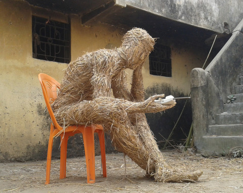 """Ecological man""  International Land Art Symposium. India."
