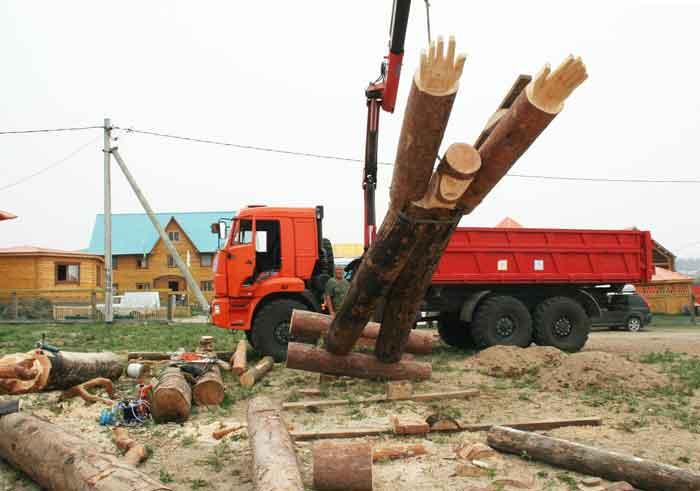 It came heavy machinery — at Lake Baikal - Siberia, Russia.