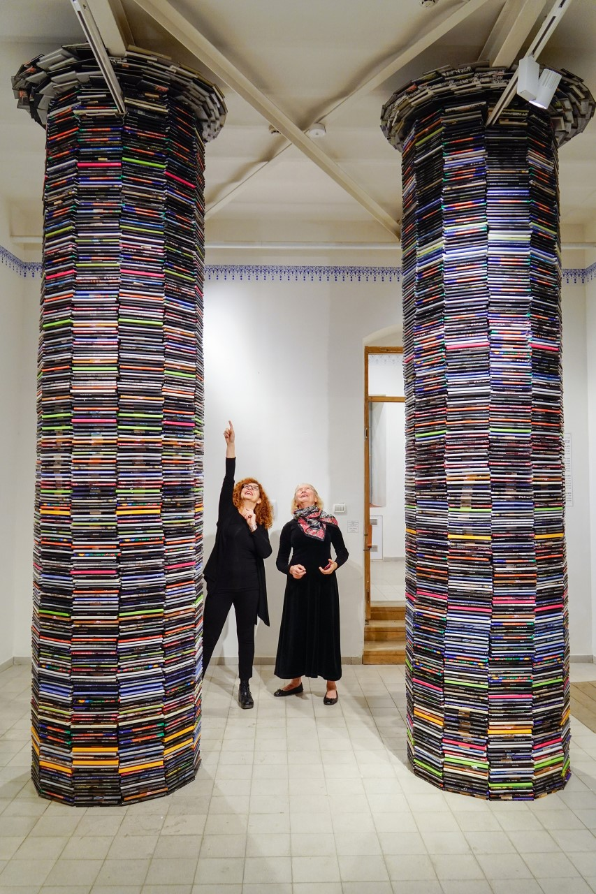 Pillars. Installation of Tanya Preminger and Dina Blich