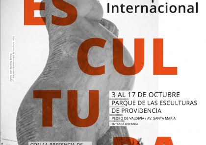 Flyer Simposio Internacional de Escultura Grupo Nuestros Parques 2016
