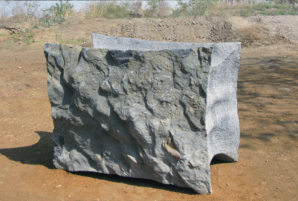 Soul of India 2012, black marble, 160 x 230 x 100 cm, Kanu Nayar park, India.
