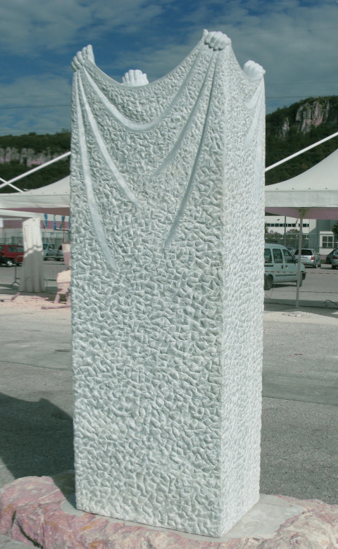 """""""Soul of stone"""",2012, marble,160x60x40cm"""