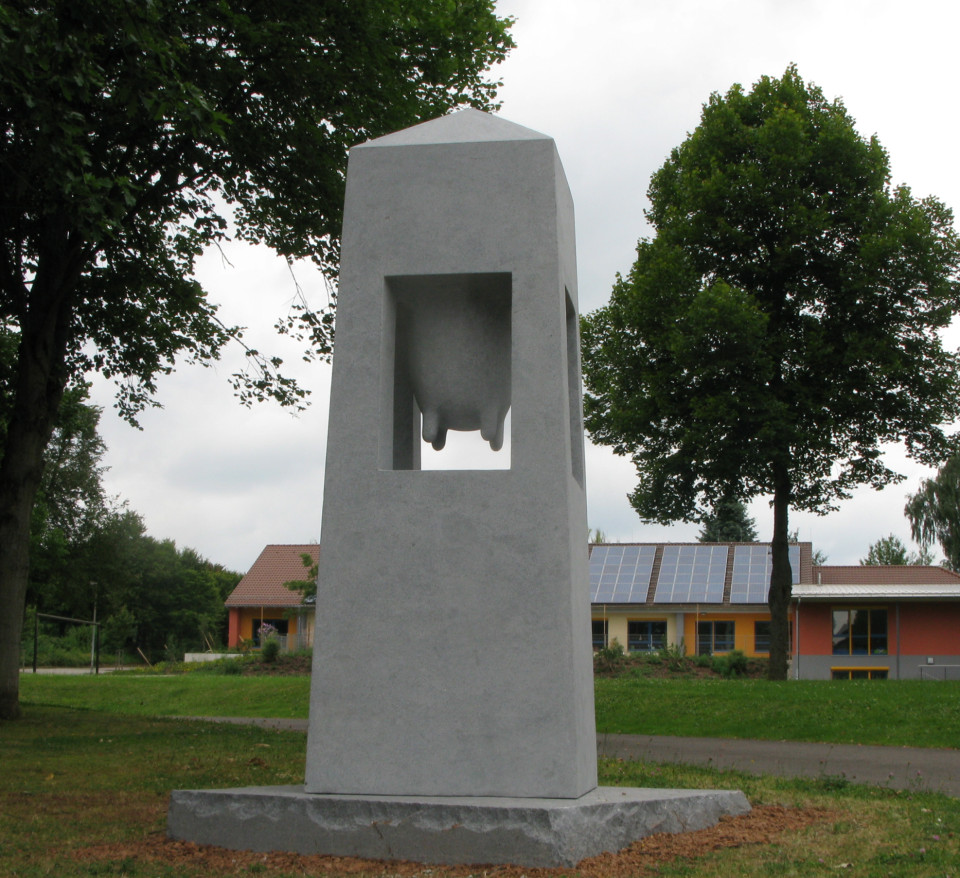 """Sanctuary"" ,gabbro ,280x100x100cm, Steinwenden Germany"