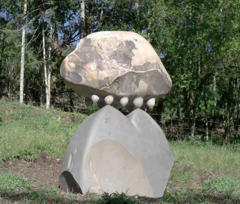 """""""Landscape"""",2013, basalt ,200 x 170 x 90 cm, Brasil"""