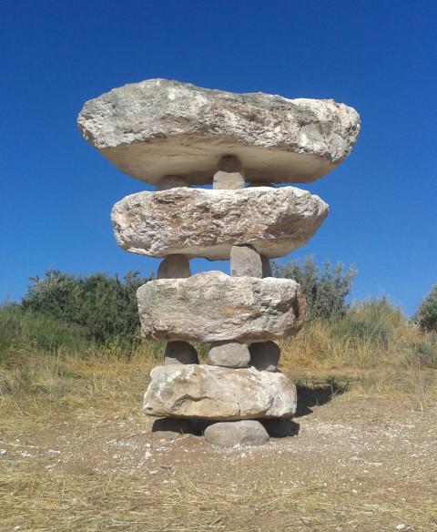 "Tanya Preminger ""Connections"" Limestone, basalt"