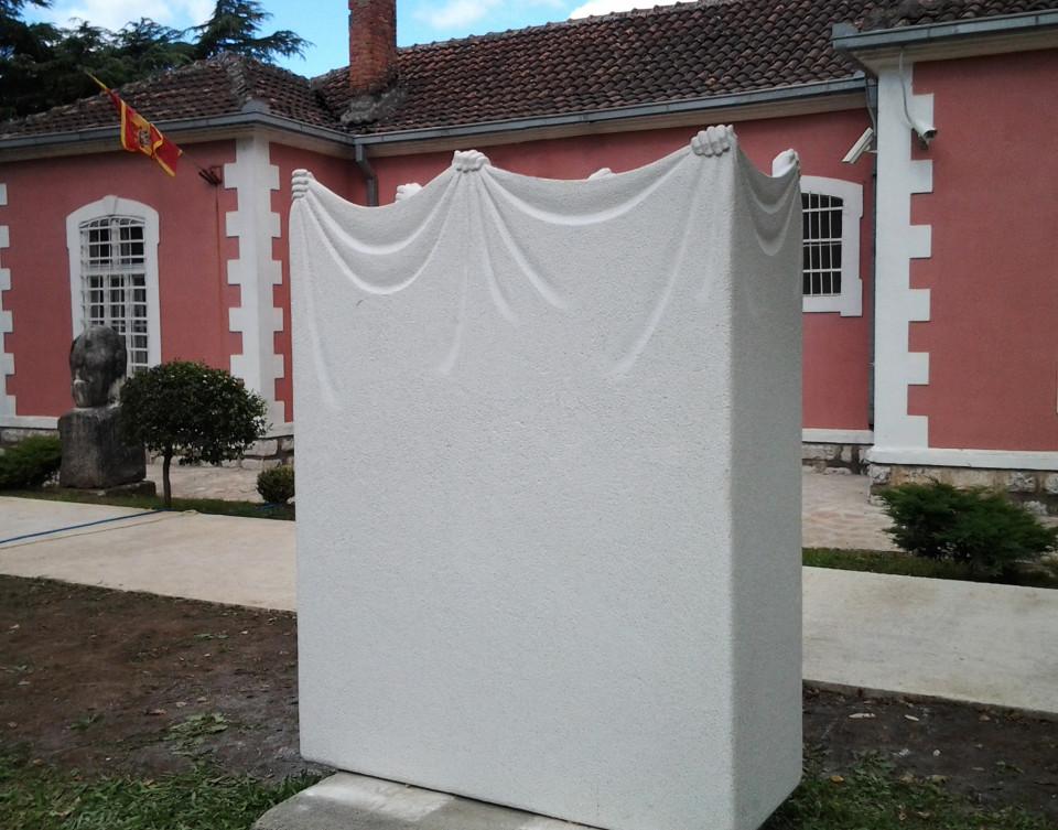 """Three Muses"",2014. Marble. 190 x 150 x 60 cm. Danilovgrad, Montenegro."