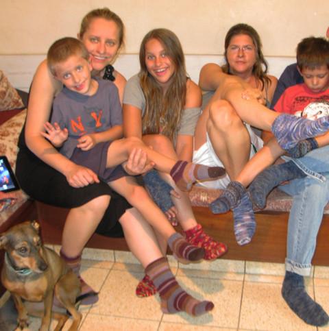 Uri Reiter, Lea Preminger, Yuli Raiter, Tanya Preminger (daughter) Sean Preminger-Orenstein