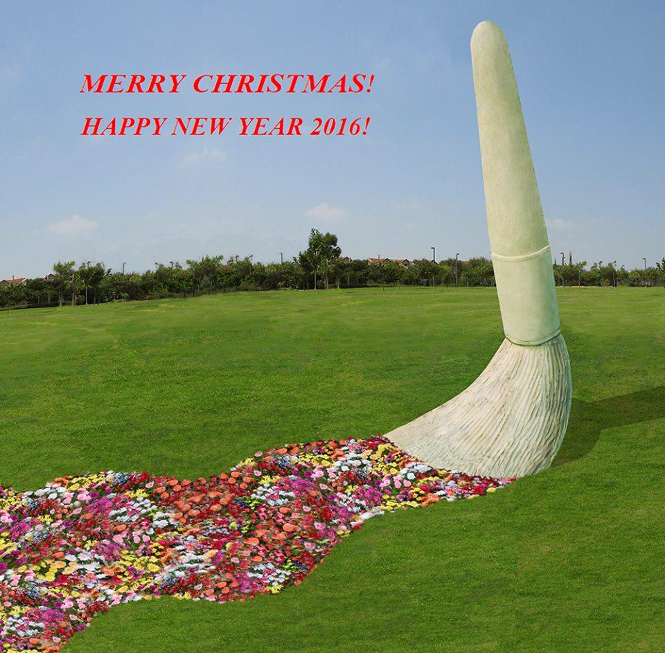 christmas-greeting-statue 2016