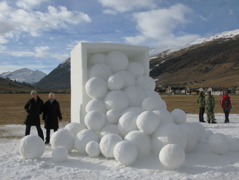 """Winter Fruits"",Livigno, Italy. Snow,  300 x 700 x 600 cm."