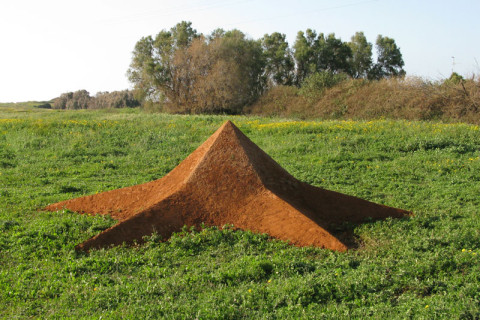 """Star Earth"" 2009 Soil 800x800x200 cm Park Dina, Israel"